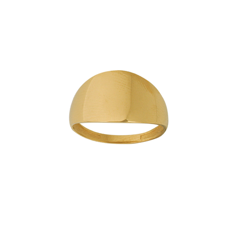 14K WIDE GRADUATED RING