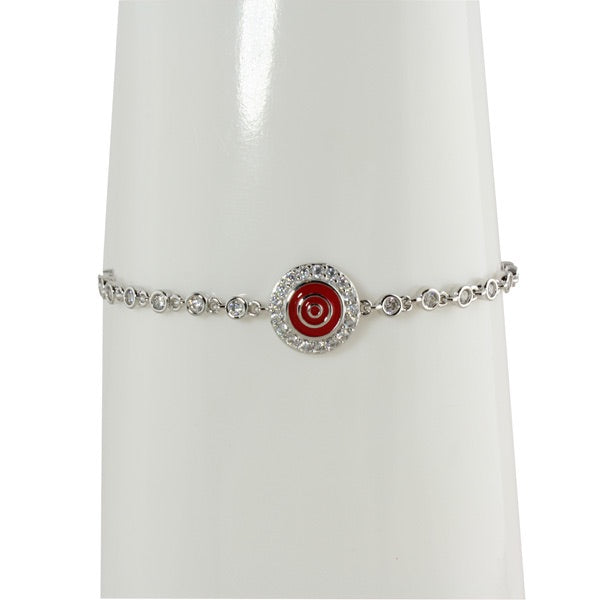 RED EVIL EYE TENNIS BRACELET