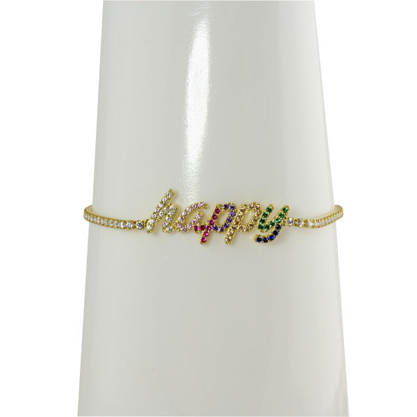 HAPPY RAINBOW TENNIS BRACELET