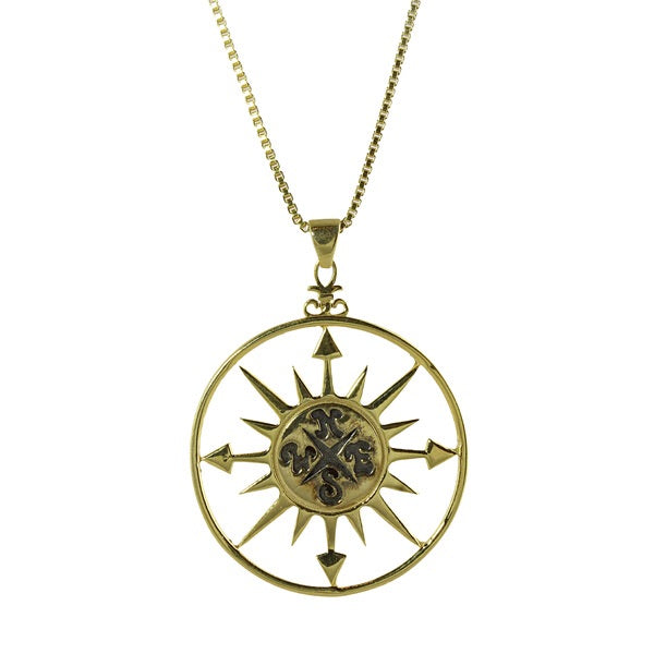 COMPASS SUN NECKLACE - adammarcjewels