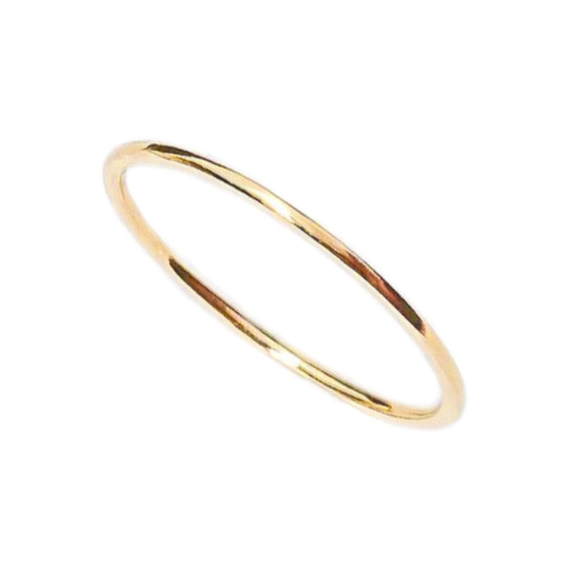 14K PLAIN GOLD THIN RING - adammarcjewels