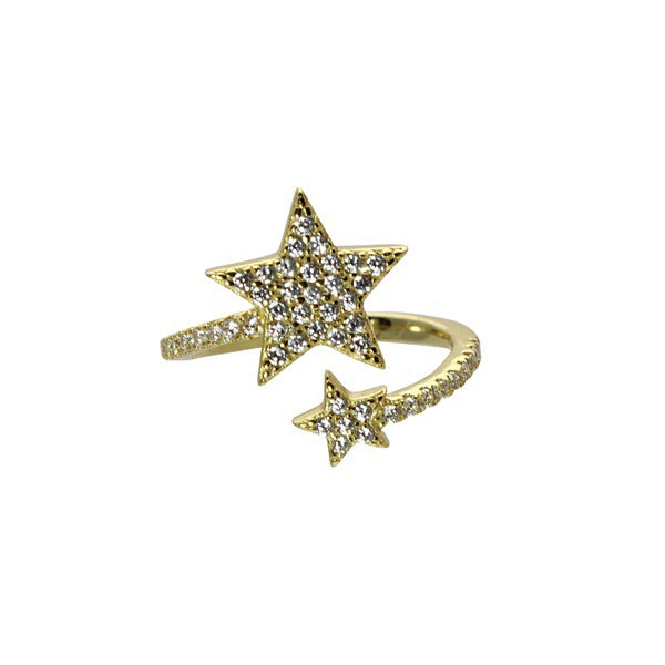PAVE WRAP STAR RING