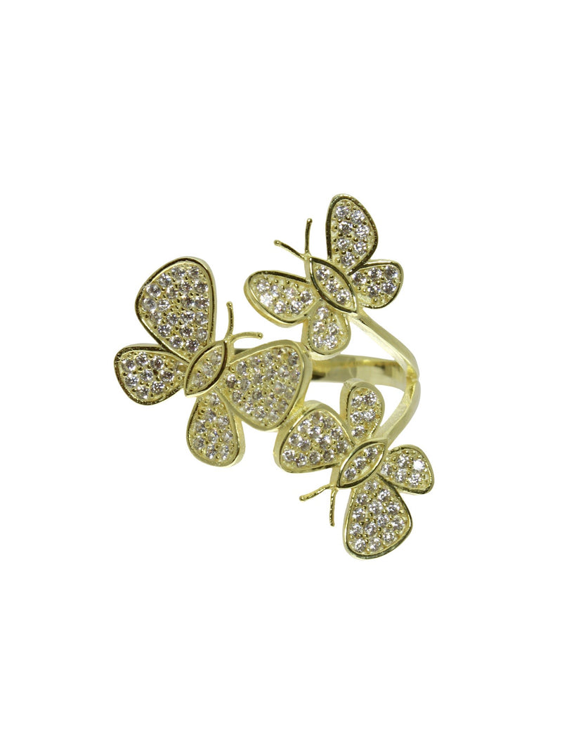 BUTTERFLY TRIO RING
