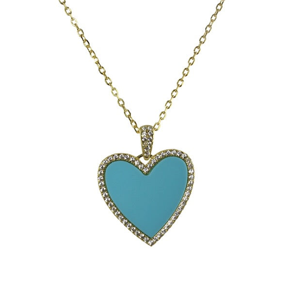 ENAMEL HEART NECKLACE - adammarcjewels
