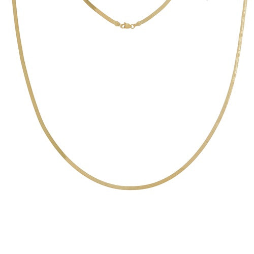 14k HERRINGBONE NECKLACE - adammarcjewels