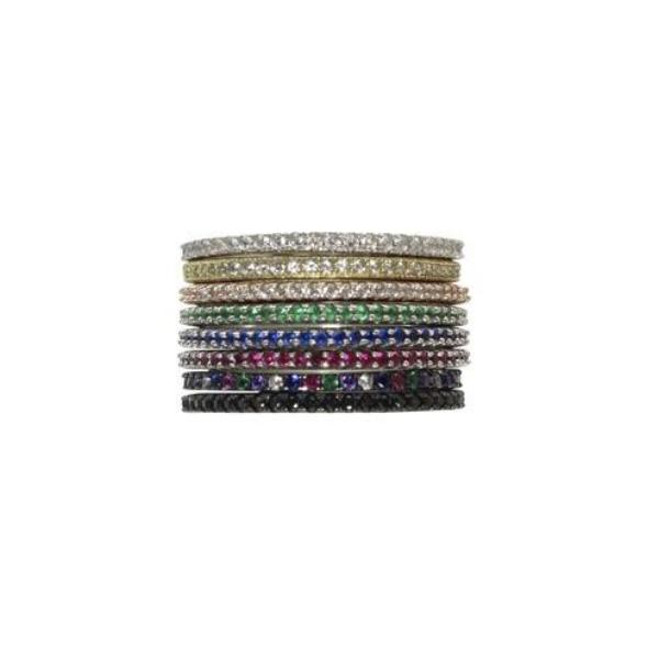 THIN COLOR STACKING RINGS