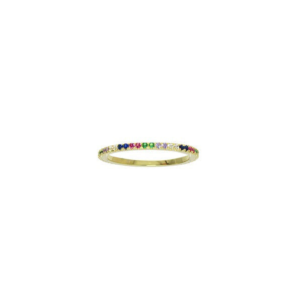 THIN RAINBOW RING