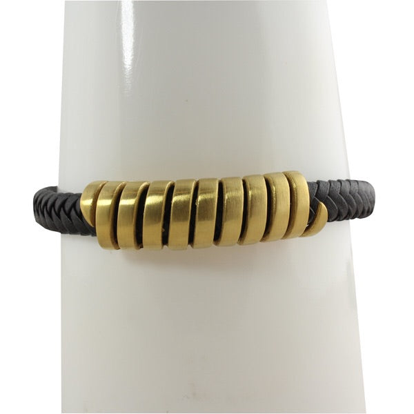 WRAPPED BAR MENS BRACELET