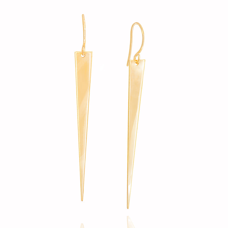 14k HANGING SPIKE EARRING - adammarcjewels