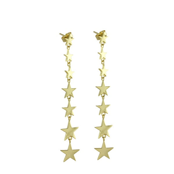 MULTI STAR DROP EARRINGS