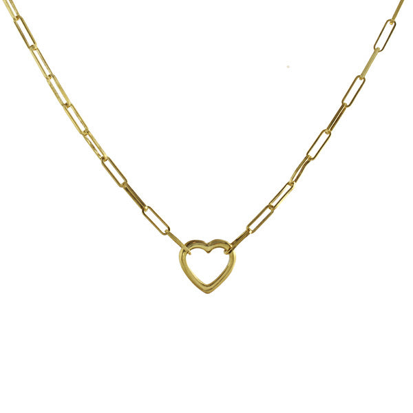 heart lonk necklace