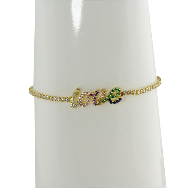 LOVE RAINBOW TENNIS BRACELET