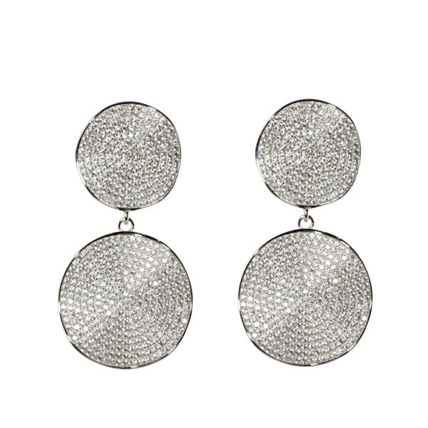 WAVY DOUBKE DISC EARRINGS