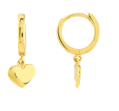 14K GOLD HEART HUGGIES