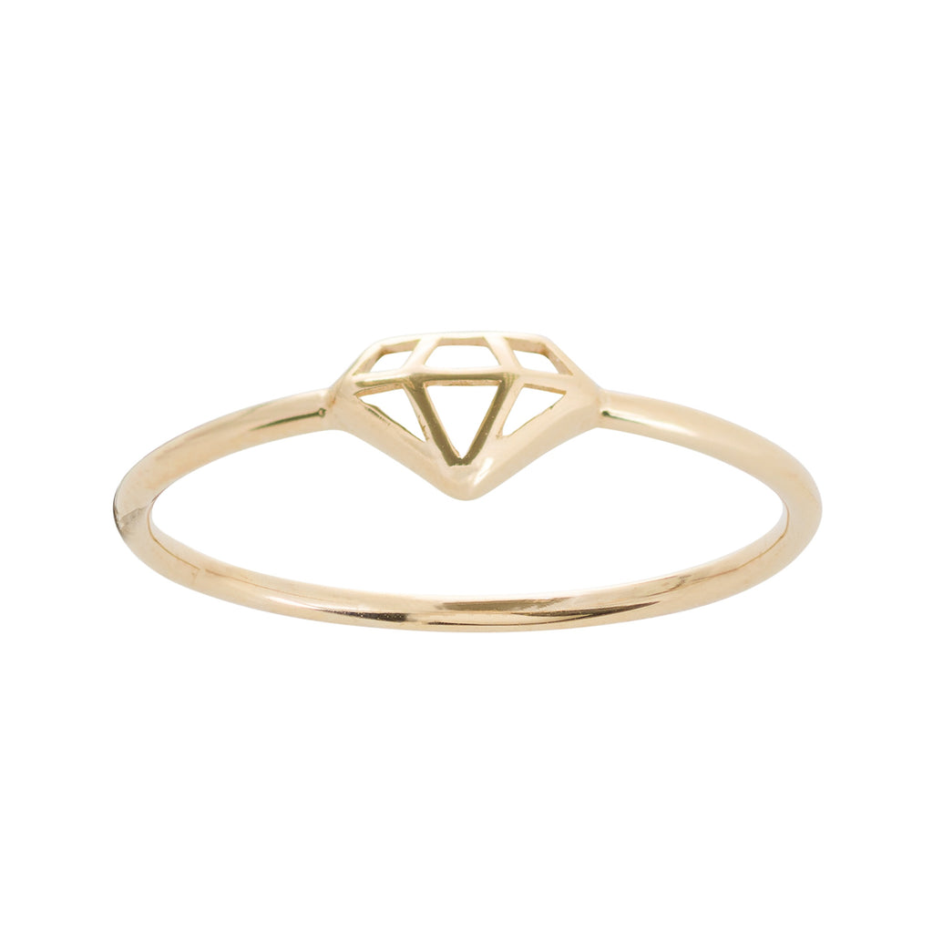 MINI CUT OUT DIAMOND RING 14K