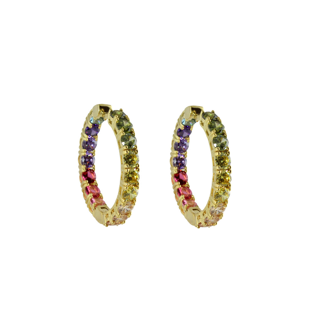 MEDIUM ROUND RAINBOW HOOPS