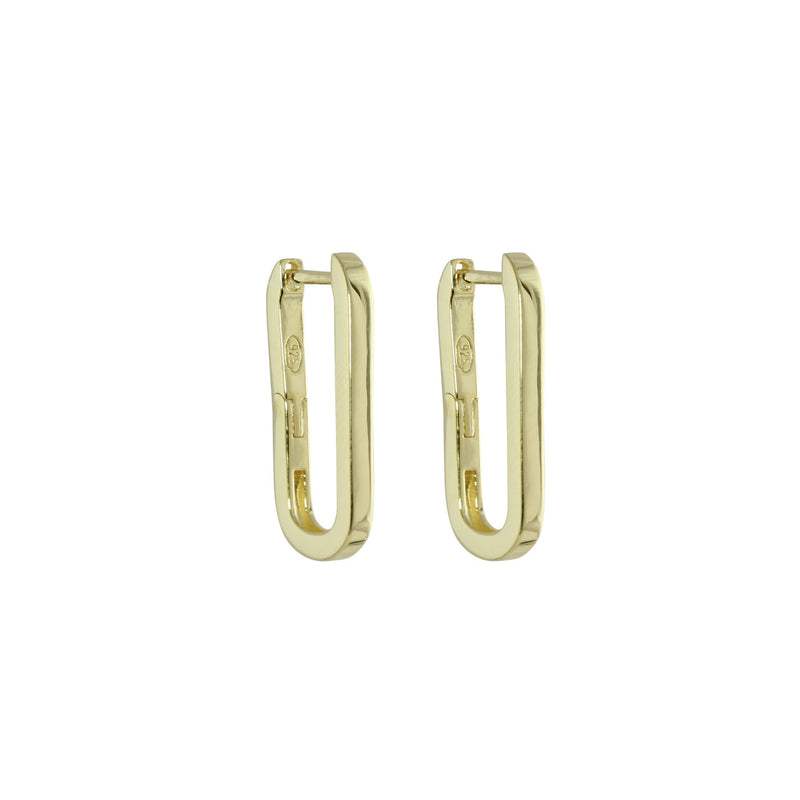 LARGE PAPERCLIP EARRING