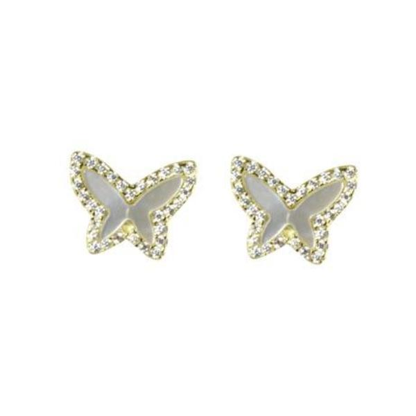 Mother of pearl butterfly studs