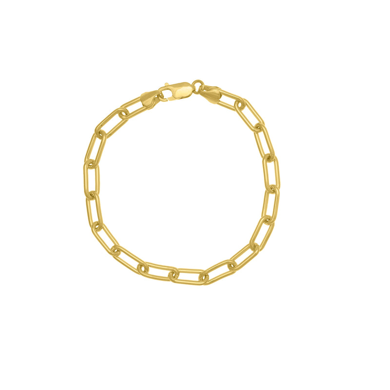 14k OPEN THICK LONG LINK BRACELET