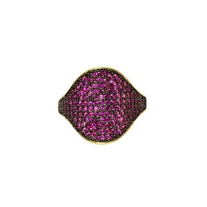 COLOR CURVE TOP RING - adammarcjewels