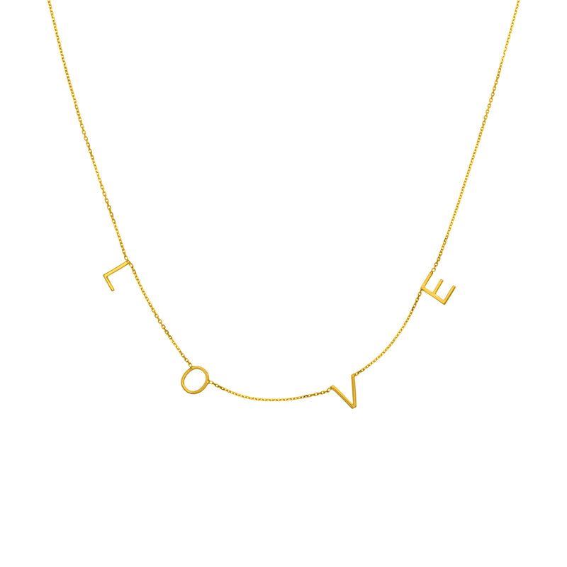 14K STATION LOVE NECKLACE