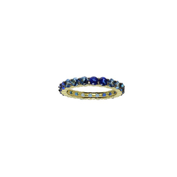 BLUE OMBRÉ RING - adammarcjewels