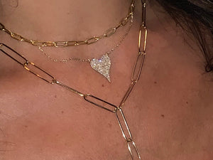 DIAMOND HEART NECKLACE 14K