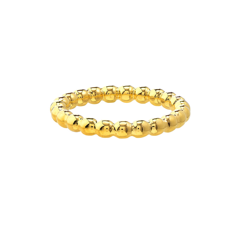 14K GOLD BEAD RING