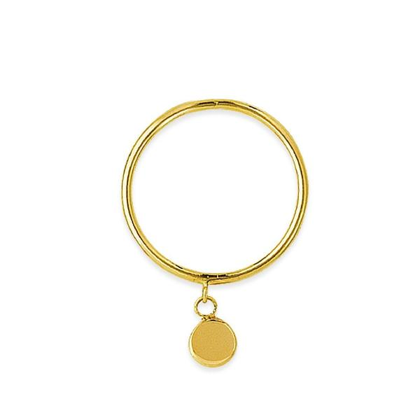 DANGLE DISC RING 14k - adammarcjewels