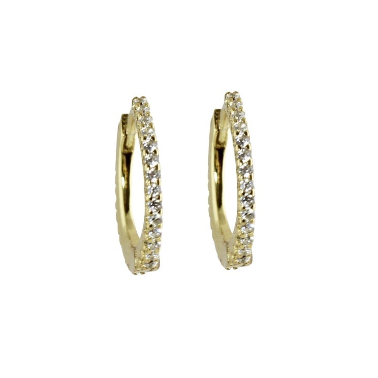 CLASSIC PAVÈ HOOP EARRINGS