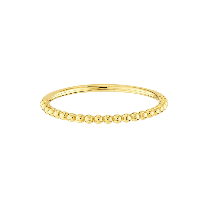 mini gold bead ring