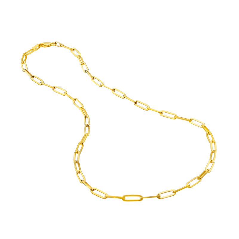 14K PAPERCLIP LINK NECKLACE