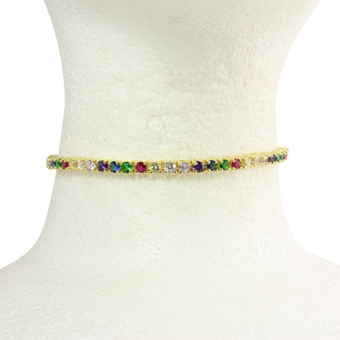 THICK RAINBOW CHOKER