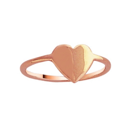 MINI GOLD HEART RING 14k
