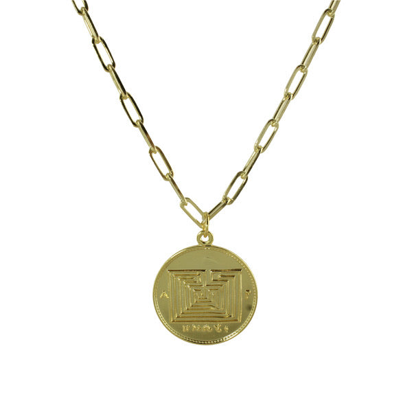 LARGE COIN LINK NECKLACE