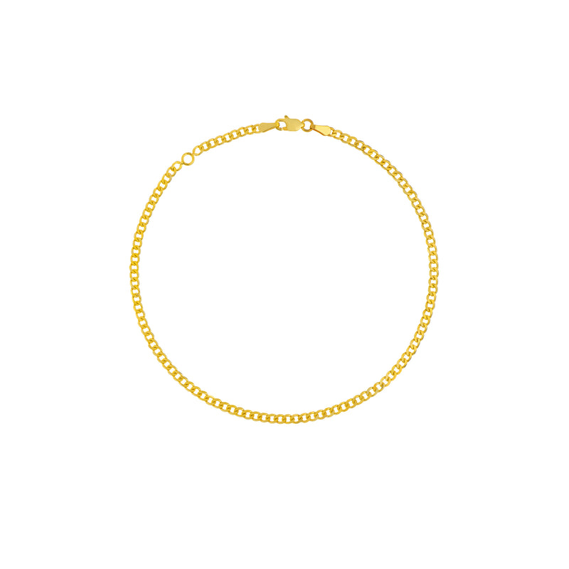 14K CURB CHAIN ANKLET