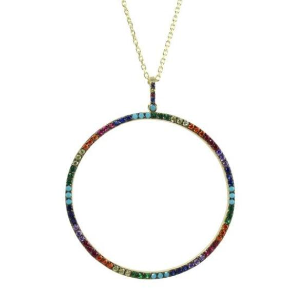 COLOR CIRCLE NECKLACE - adammarcjewels