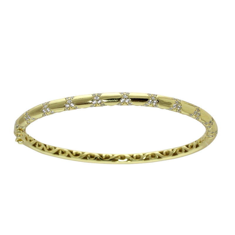 PAVÈ STRIPE GOLD BANGLE