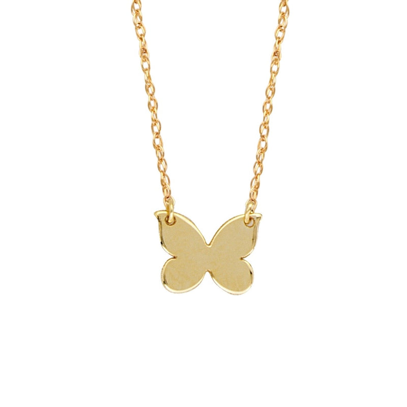 14K GOLD MINI BUTTERFLY NECKLACE