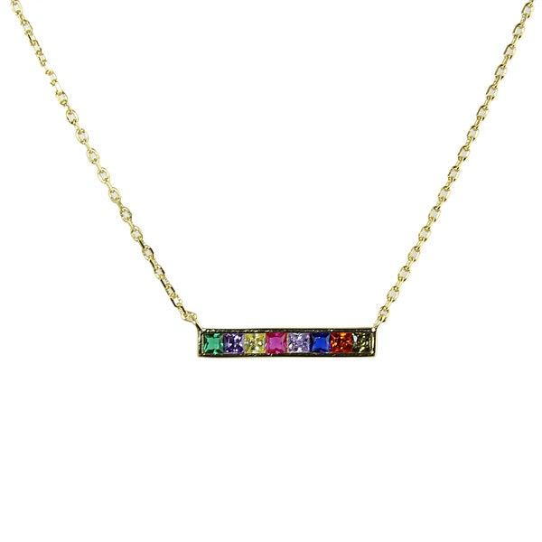 MINI RAINBOW BAR NECKLACE