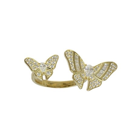 BUTTERFLY CUFF RING