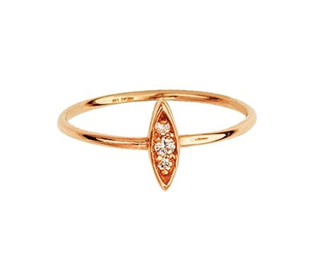 DIAMOND PAVÈ MARQUIS RING 14K