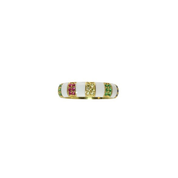 ENAMEL RAINBOW BAND - adammarcjewels