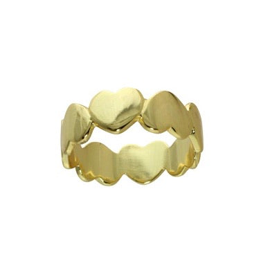 GOLD HEART BAND