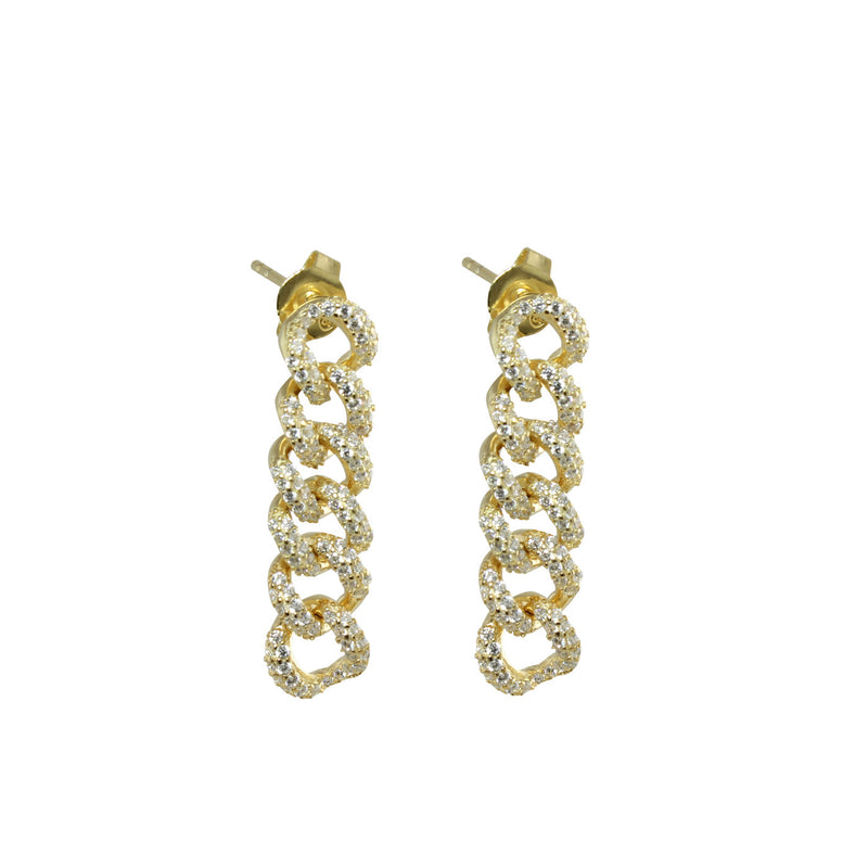 PAVÈ LINK CHAIN EARRINGS