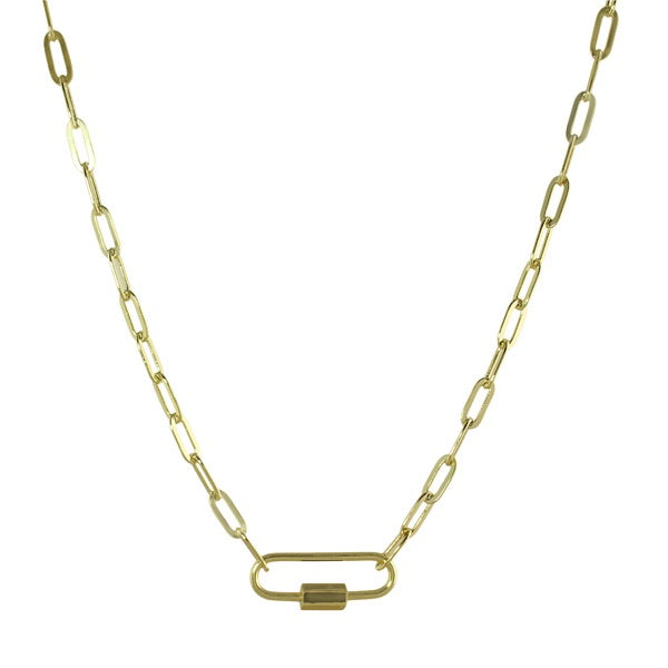 ENAMEL BAR LINK NECKLACE