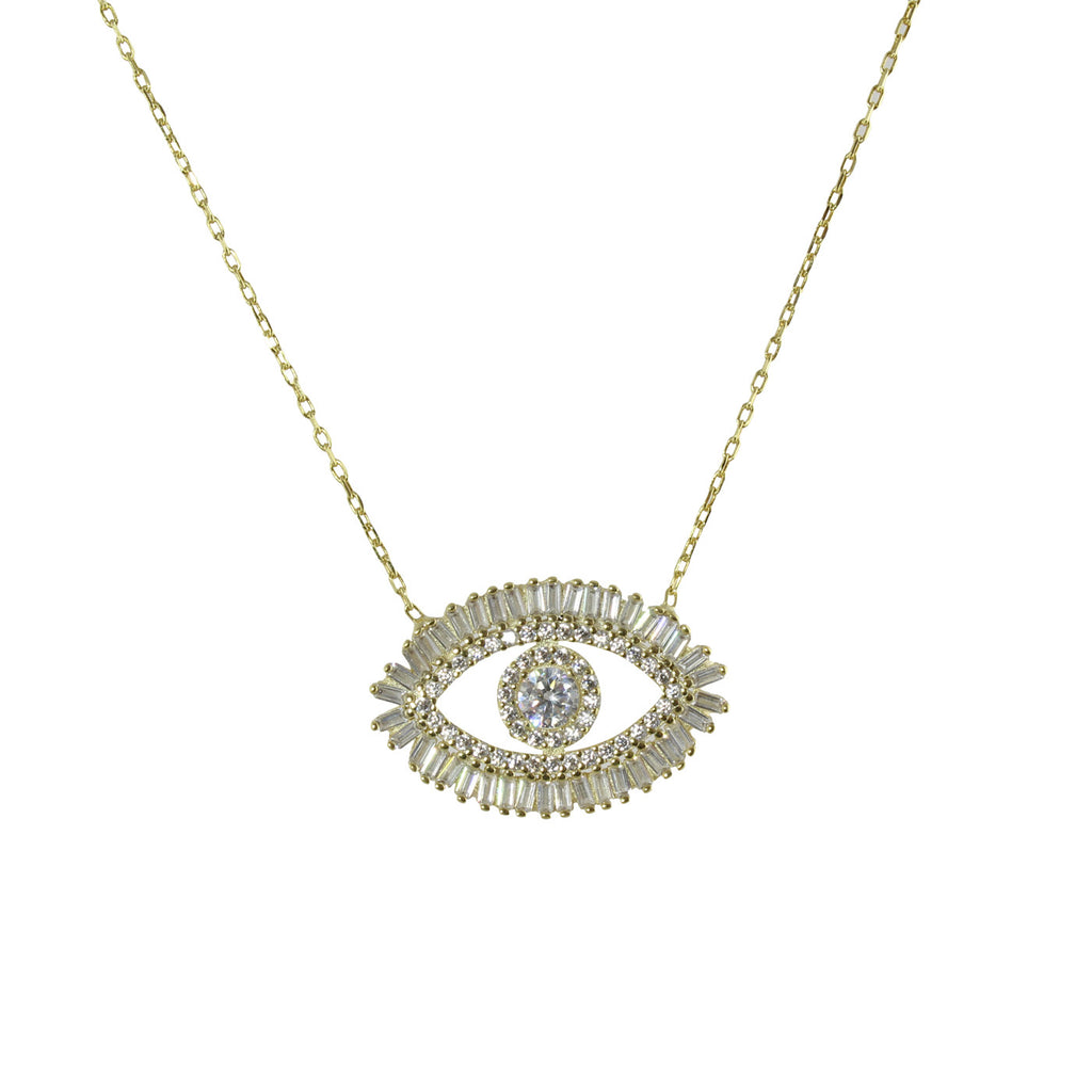 BAGUETTE EYE LASHES NECKLACE