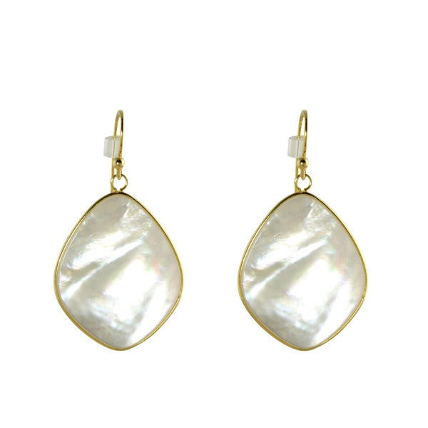 FLAT PEARL DROP EARRINGS