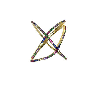 COLORED X RING - adammarcjewels