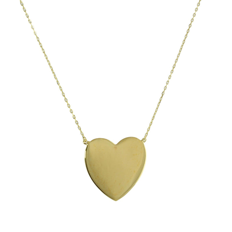 JUMBO GOLD HEART NECKLACE